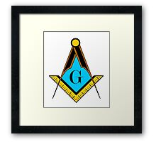 freemason symbol Framed Print