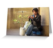 palm weaver Greeting Card