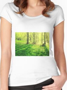 Forest Glow Women's Fitted Scoop T-Shirt