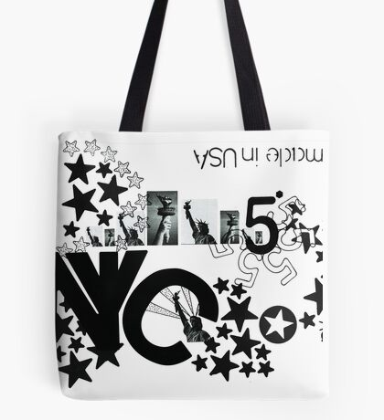 NYC - The city of Stars (white version) Tote Bag
