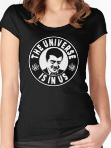 The Universe Is In Us - Neil DeGrasse Tyson  Women's Fitted Scoop T-Shirt