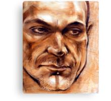 Michel - portrait in conte pencil and pastel Canvas Print
