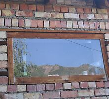 Mountains in a Window by KZBlog