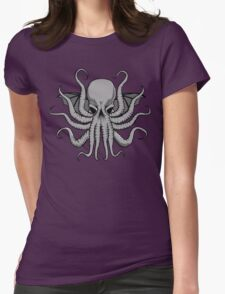 Grey Chtulhu Womens Fitted T-Shirt