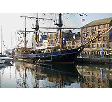 Tall Ship in Barbican Harbour Plymouth Photographic Print