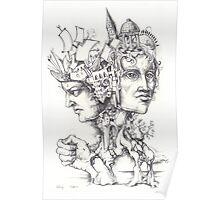 Roman God Janus Poster