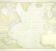Kriegsmarine Atlantic Map by MrGreed