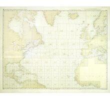 Kriegsmarine Atlantic Map Photographic Print