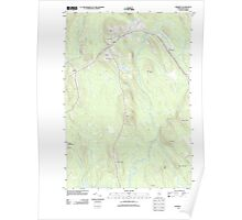 Maine USGS Historical Map Amherst 20110909 TM Poster