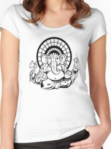 Lord Ganesha Graphic Women's Fitted Scoop T-Shirt