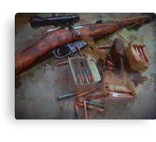 Mosin Nagant Ammo Dump Drip Canvas Print