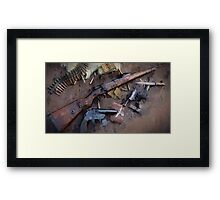 WW2 German Small Arms Drip Framed Print