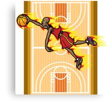 Flying Basketball Canvas Print
