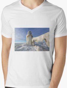 St. Joseph Lighthouse in Winter Mens V-Neck T-Shirt