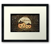 Halloween Vintage Pumpkins Framed Print
