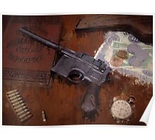 German Mauser C96 Drip Poster
