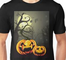 Scary Pumpkins in Forest Unisex T-Shirt