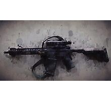 Blacked Out AR15 Drip Photographic Print