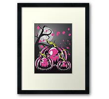Scary Pumpkins in Forest 3 Framed Print