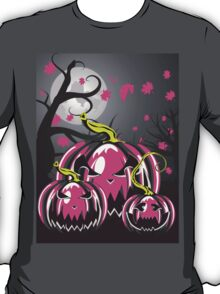 Scary Pumpkins in Forest 3 T-Shirt