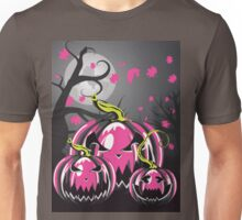 Scary Pumpkins in Forest 3 Unisex T-Shirt