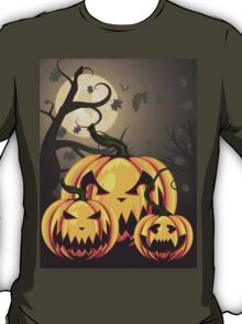 Scary Pumpkins in Forest 2 T-Shirt