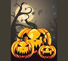 Scary Pumpkins in Forest 2 Unisex T-Shirt