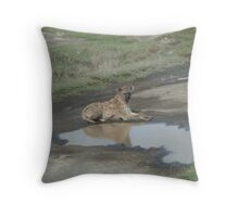 Hyena Reflection Throw Pillow
