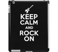 Keep Calm and Rock On  iPad Case/Skin