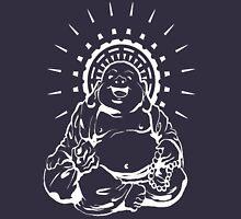 Sunburst Happy Buddha Inverted Mens V-Neck T-Shirt