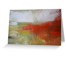Red White Abstract Painting  Greeting Card