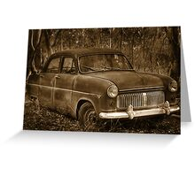 Ford Consul - Rusting Beauty Greeting Card