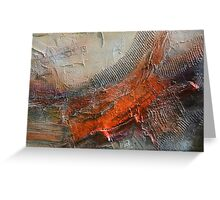 Abstract Rust Grey Art Print  Greeting Card