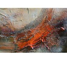 Abstract Rust Grey Art Print  Photographic Print