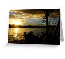 Fishing Boat Silhouette Greeting Card
