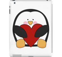 Valentine's Penguin holding heart iPad Case/Skin