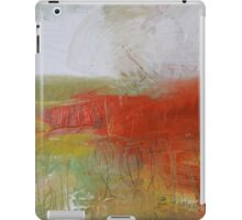 Red White Abstract Painting  iPad Case/Skin