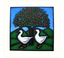 The Geese in the Orchard Art Print