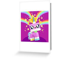 Princess Unikitty YAY! Greeting Card