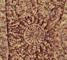 Buddha Footprint in Earth Sticker