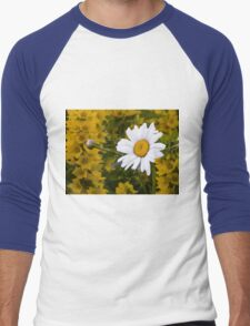 Chamomiles in the garden 3 Men's Baseball ¾ T-Shirt