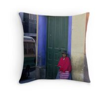 Waiting for someone - Bolivia Throw Pillow