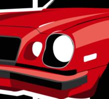 Red Camaro 77 Sticker