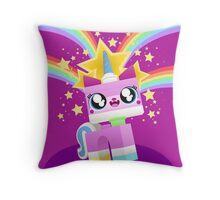 Princess Unikitty YAY! Throw Pillow