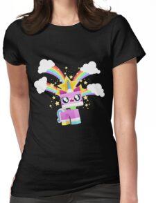 Princess Unikitty YAY! Womens Fitted T-Shirt