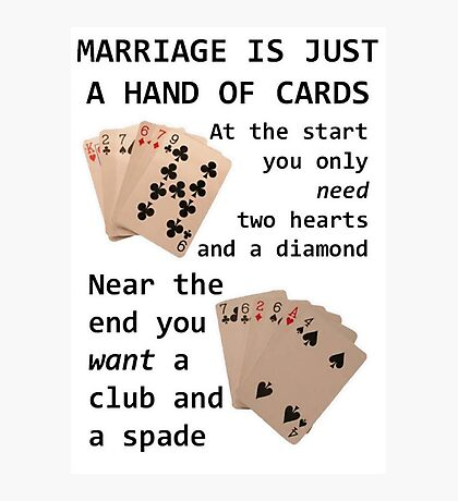 Hearts, Diamonds, Spades and Clubs Photographic Print