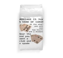 Hearts, Diamonds, Spades and Clubs Duvet Cover