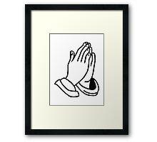 Hands praying Framed Print