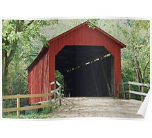 Sandy Creek Covered Bridge in Summer Poster