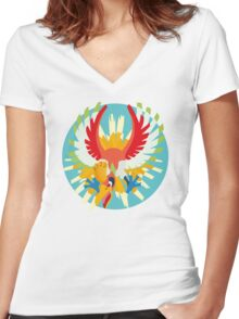 Ho-oh - 2nd Gen Women's Fitted V-Neck T-Shirt